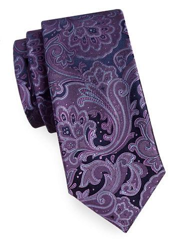 Michael Michael Kors Silk Foulard Tie-PURPLE-One Size