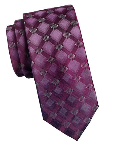Geoffrey Beene Squares Tie-RED-One Size