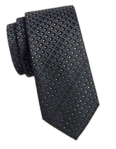 Geoffrey Beene Embroidered Tie-BLACK-One Size