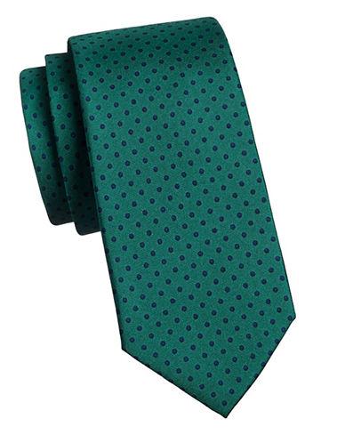 Tommy Hilfiger Silk Dot Tie-GREEN-One Size