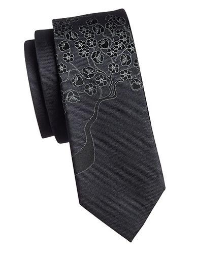Calvin Klein Floral Slim Tie-GREEN-One Size