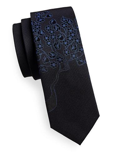 Calvin Klein Floral Slim Tie-NAVY-One Size