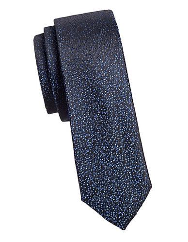 Calvin Klein Slim Silk Tie-NAVY-One Size