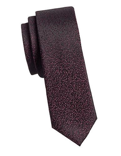 Calvin Klein Slim Silk Tie-PINK-One Size