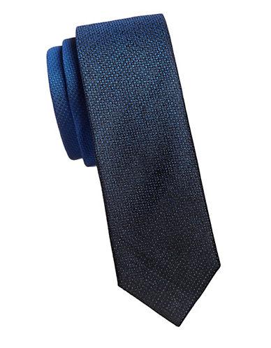 Kenneth Cole Reaction Textured Slim Silk Tie-BLUE-One Size