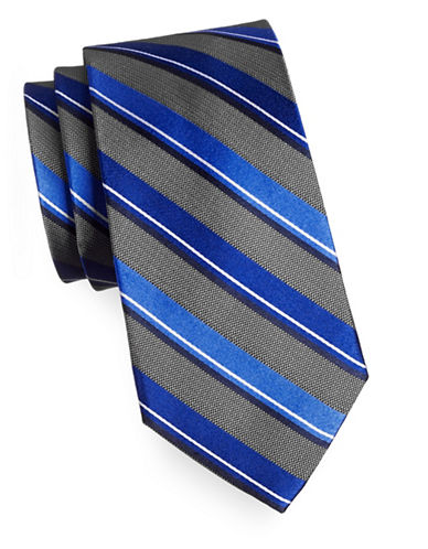 Arrow Premium Striped Silk Tie-BLUE-One Size