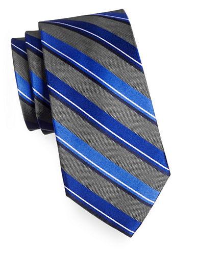 Arrow Premium Striped Silk Tie-BLUE-One Size