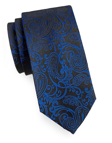 Arrow Premium Paisley Silk Tie-BLUE-One Size