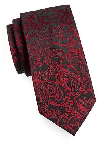Arrow Premium Paisley Silk Tie-RED-One Size