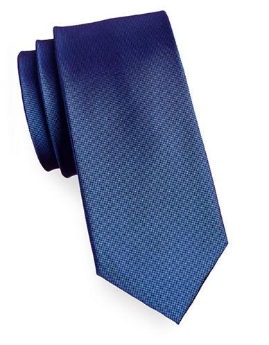 Izod Pindot Silk Tie-BLUE-One Size