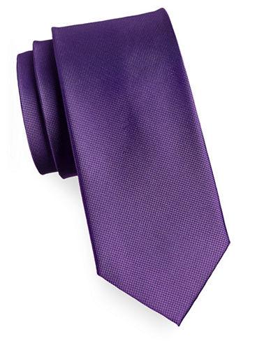 Izod Pindot Silk Tie-PURPLE-One Size