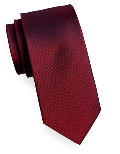Izod Pindot Silk Tie-RED-One Size
