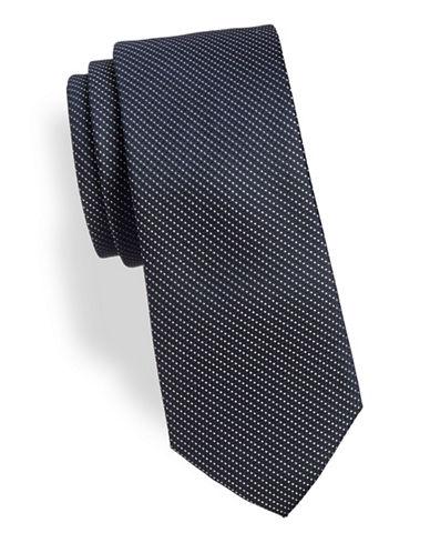 Calvin Klein Textured Fine Dot Tie-NAVY-One Size
