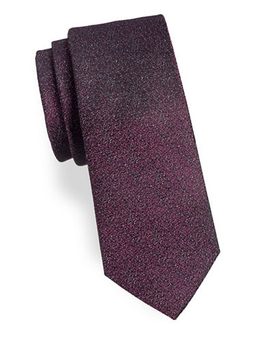 Calvin Klein Speckled Silk-Blend Tie-PURPLE-One Size