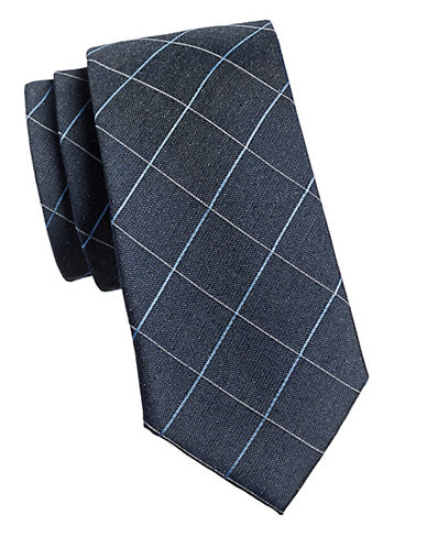 Michael Michael Kors Grid Tie-GREY-One Size