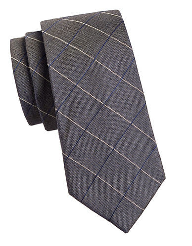 Michael Michael Kors Grid Tie-BROWN-One Size