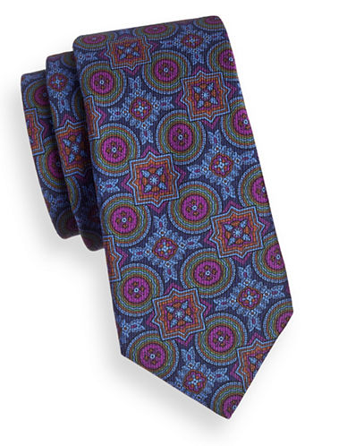 Ted Baker Endurance Geometric Print Tie-NAVY BLUE-One Size