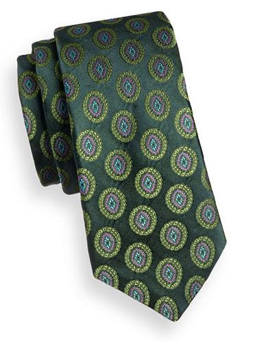 Ted Baker Endurance Medallion Silk Tie-GREEN-One Size