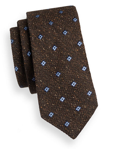 Ted Baker Endurance Textured Tie-BROWN-One Size