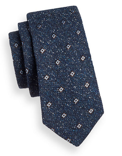 Ted Baker Endurance Textured Tie-NAVY-One Size