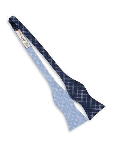 Bow Tie Tuesdays Neat Plaid Bow Tie-BLUE-One Size