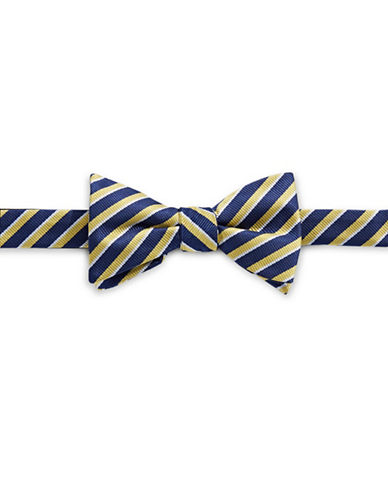 Bow Tie Tuesdays Pre-Tied Striped Bow Tie-YELLOW-One Size