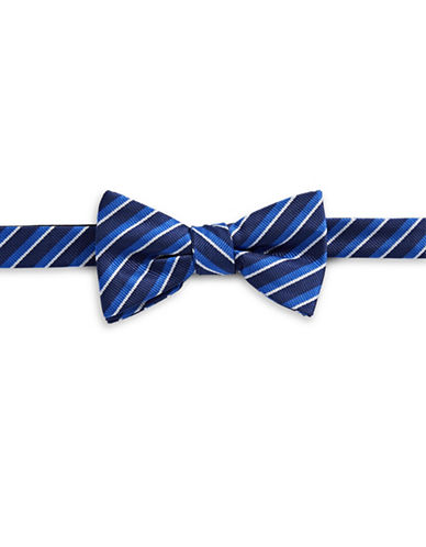 Bow Tie Tuesdays Pre-Tied Striped Bow Tie-BLUE-One Size