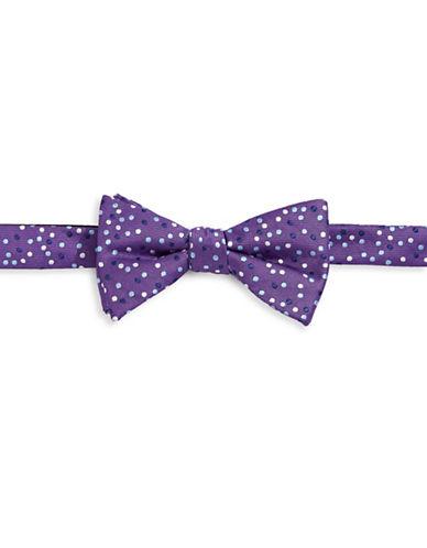 Bow Tie Tuesdays Polka-Dot Bow Tie-PURPLE-One Size