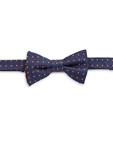 Tommy Hilfiger Pre-Tied Dot Bow Tie-ORANGE-One Size