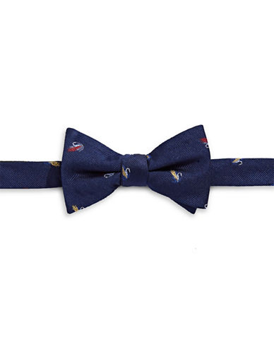 Tommy Hilfiger Pre-Tied Fishing Lure Bow Tie-NAVY-One Size