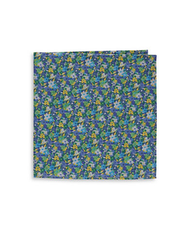 Tommy Hilfiger Floral Pocket Square-BLUE-One Size