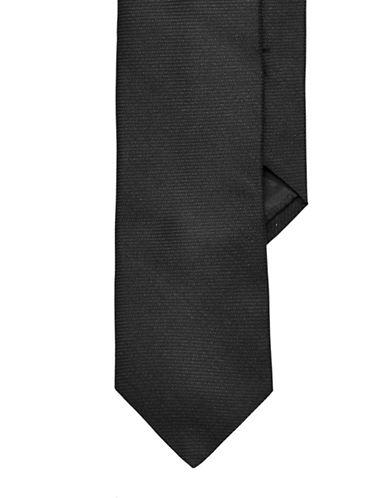 Calvin Klein Solid Slim Tie-BLACK-One Size