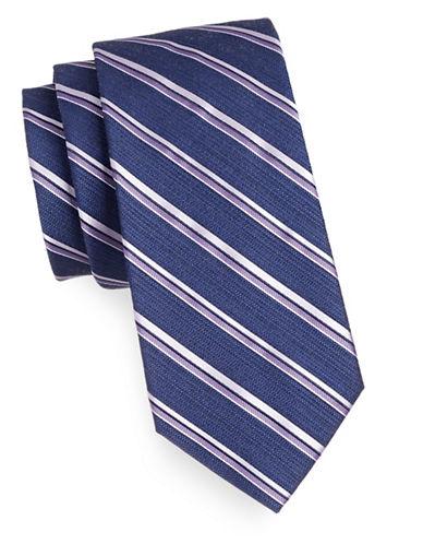 Arrow Premium Repp Stripe Tie-PURPLE-One Size