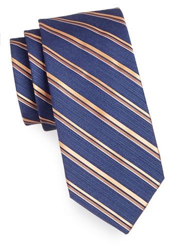 Arrow Premium Repp Stripe Tie-ORANGE-One Size