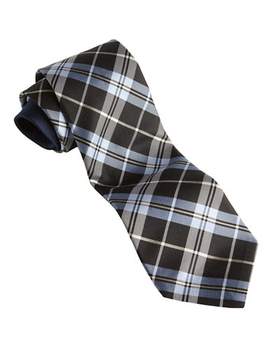 Tommy Hilfiger Plaid Core Tie-BLACK-One Size