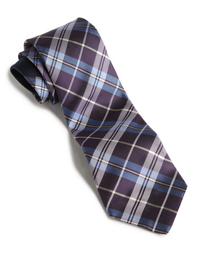 Tommy Hilfiger Plaid Core Tie-DARK PURPLE-One Size
