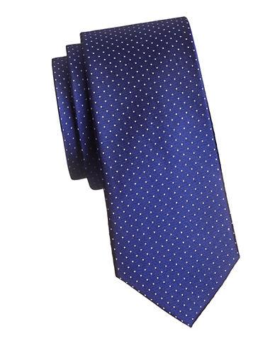 Tommy Hilfiger Vintage Dot Neat Silk Tie-BLUE-One Size