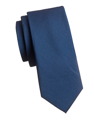 Tommy Hilfiger Solid Silk Tie-BLUE-One Size