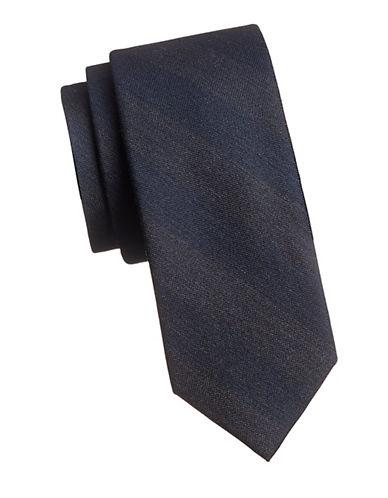 Tommy Hilfiger Vintage Stripe Silk Tie-BLUE-One Size