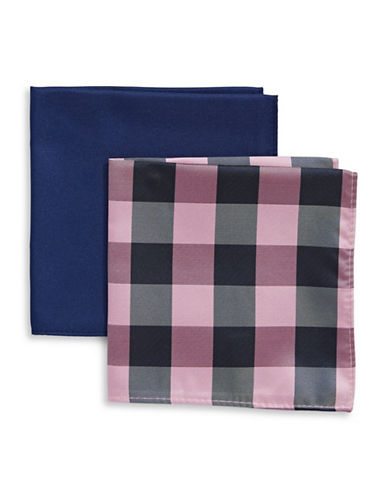 Tommy Hilfiger Two-Piece Mixed Pocket Square Set-PINK-One Size