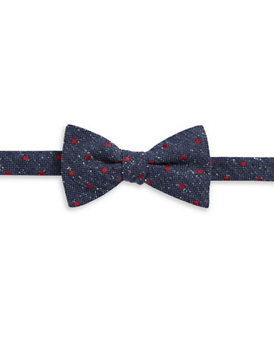 Tommy Hilfiger Pre-Tied Polka Dot Bow Tie-CHARCOAL-One Size