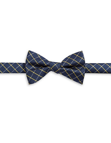 Tommy Hilfiger Pre-Tied Check Bow Tie-PURPLE-One Size