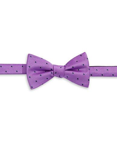 Tommy Hilfiger Pre-Tied Polka Dot Bow Tie-PURPLE-One Size