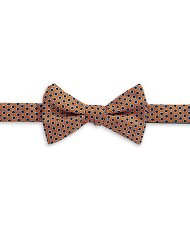 Tommy Hilfiger Pre-Tied Medallion Print  Bow Tie-ORANGE-One Size