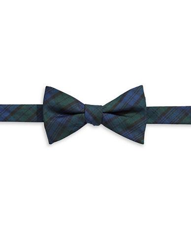Tommy Hilfiger Pre-Tied Tartan Bow Tie-NAVY-One Size