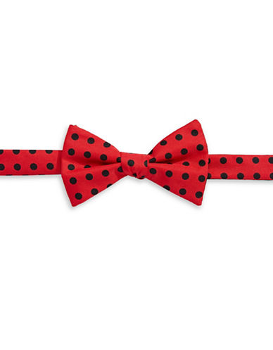 Tommy Hilfiger Pre-Tied Polka Dot Bow Tie-RED-One Size