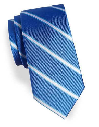 Tommy Hilfiger Textured Repp Silk Tie-BLUE-One Size