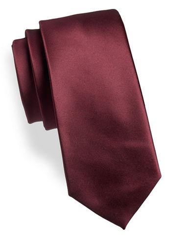 Geoffrey Beene Solid Tie-RED-One Size