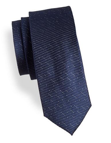 Calvin Klein Slim Speckle Silk Tie-BLUE-One Size
