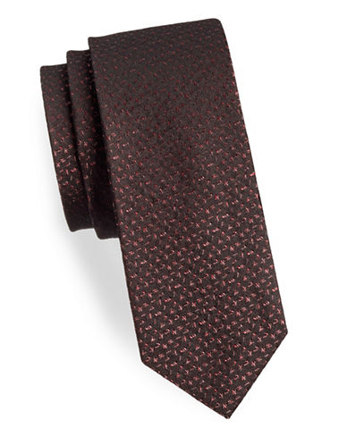 Calvin Klein Logo Silk Tie-RED-One Size